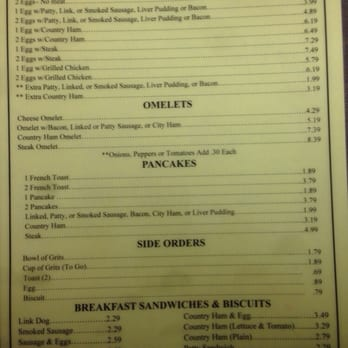 Breakfast Restaurants In Elizabethtown Nc