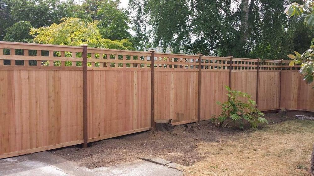 Craftsman Style Cedar Fence Yelp