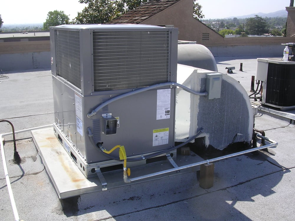 Hvac crack units rooftop