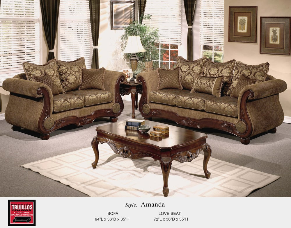 Trujillo Furniture, Amanda Living Room Set. Heavy duty ...