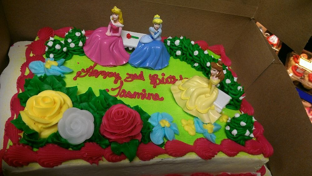 Picked Up My Daughters Disney Princess Birthday Cake From The