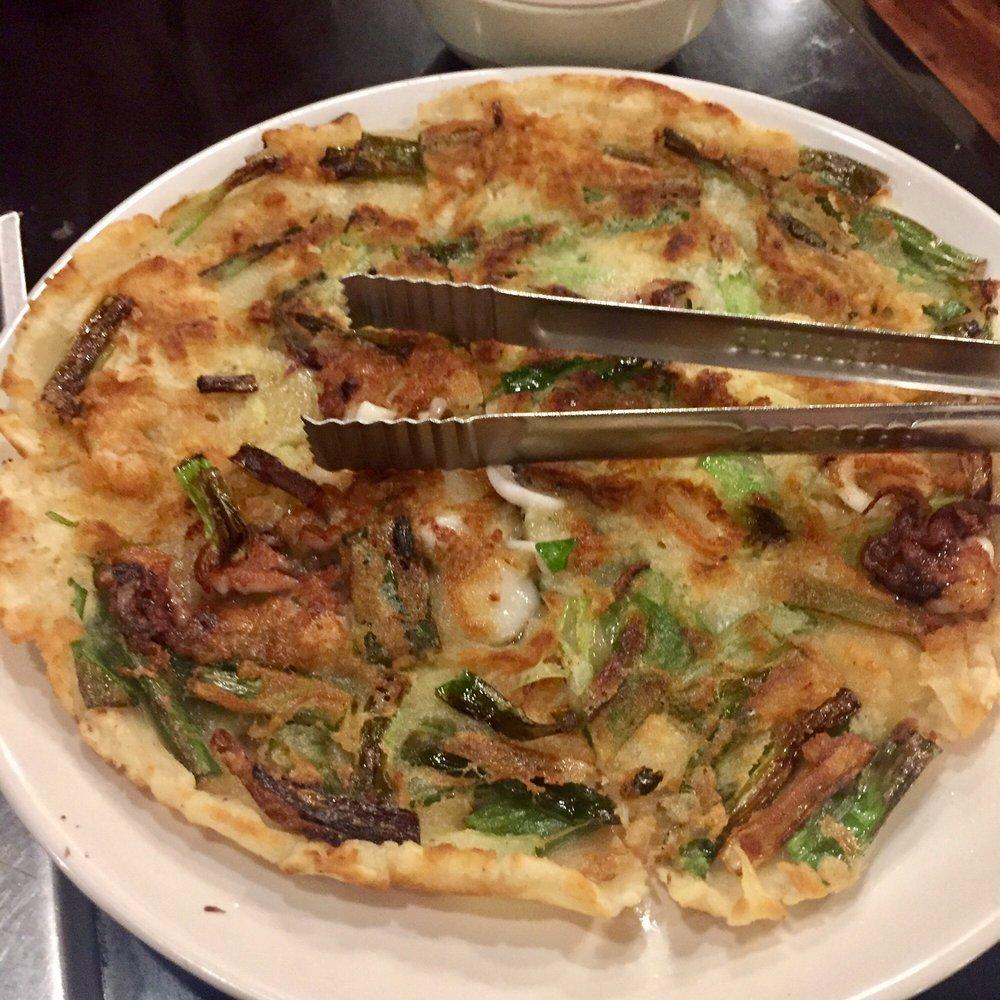 Korean seafood pancake - Yelp