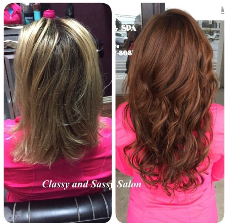 Before And After Klix Hair Extensions I Changed Her Color