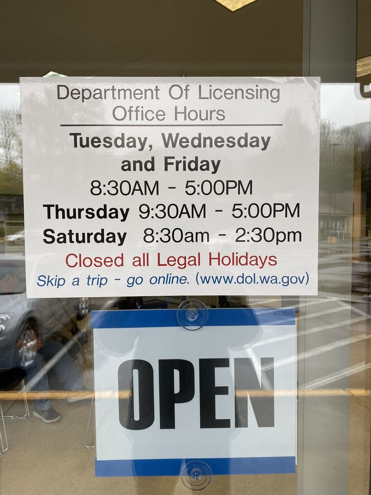 Washington State Department of Licensing: 402 Main Ave S, North Bend, WA