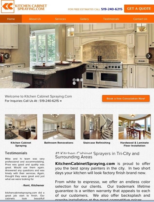 Kitchen Cabinet Spraying Cambridge