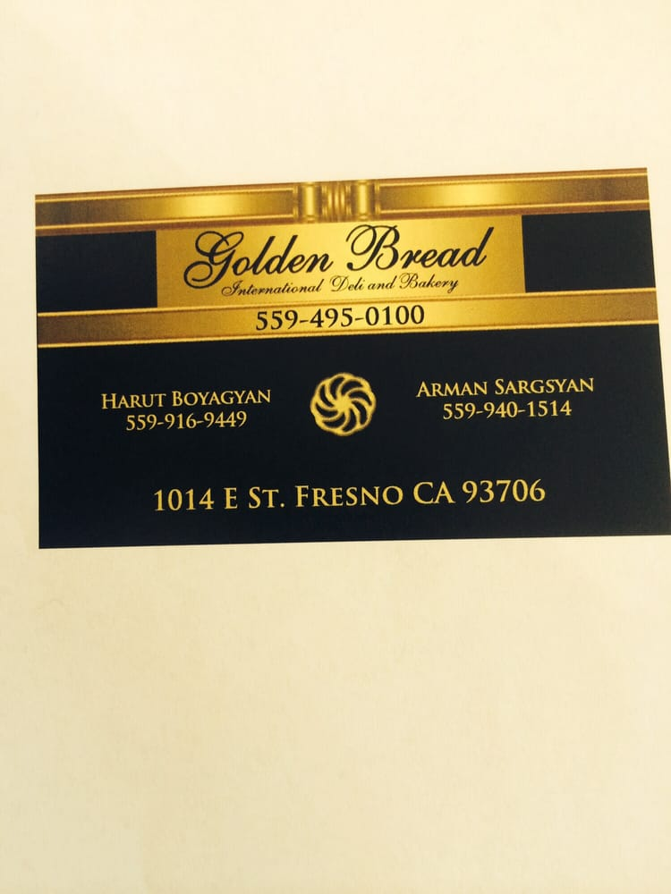 BUSINESS CARDS GOLDEN BREAD CALL FOR ORDER - Yelp