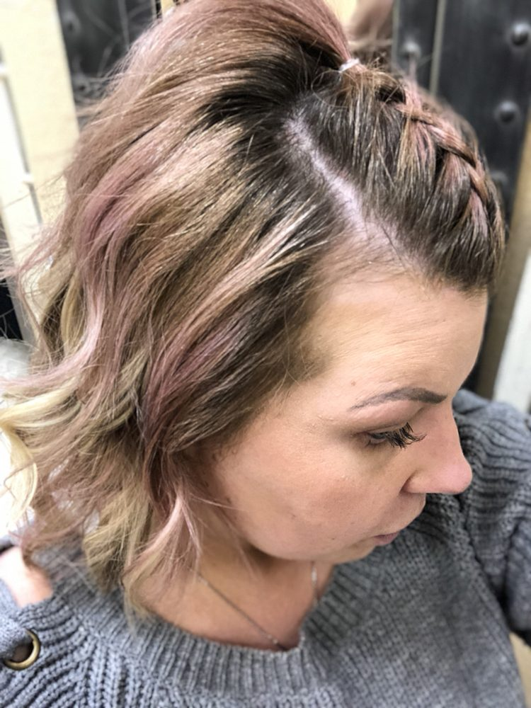 Joico Color Butter And Short Blond Hair Extensions Make For A Cute