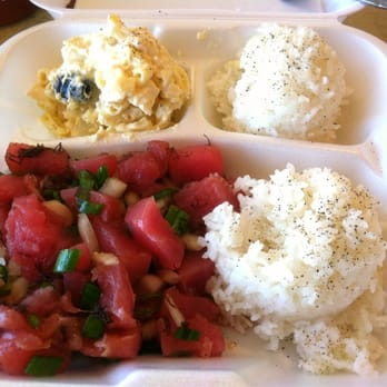 Photo Of Hula S Hawaiian Grill Long Beach Ca United States Poke Plate