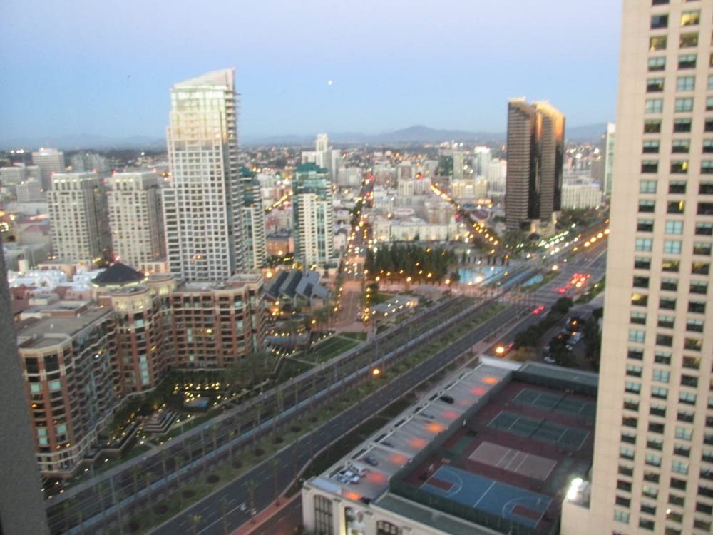 view from seaport tower at manchester grand hyatt into. Black Bedroom Furniture Sets. Home Design Ideas