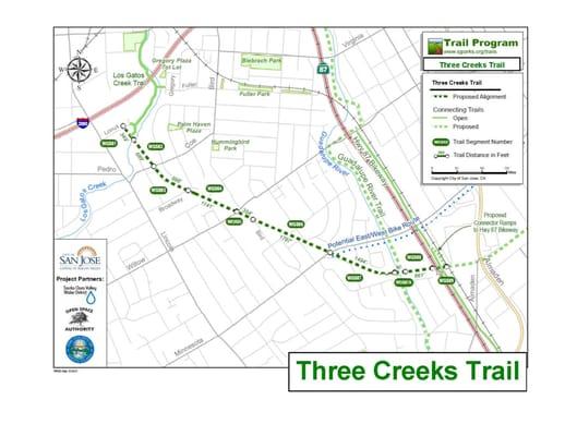 Three Creeks Trail [400 - 1199] Willow Glen Way San Jose, CA Parks ...