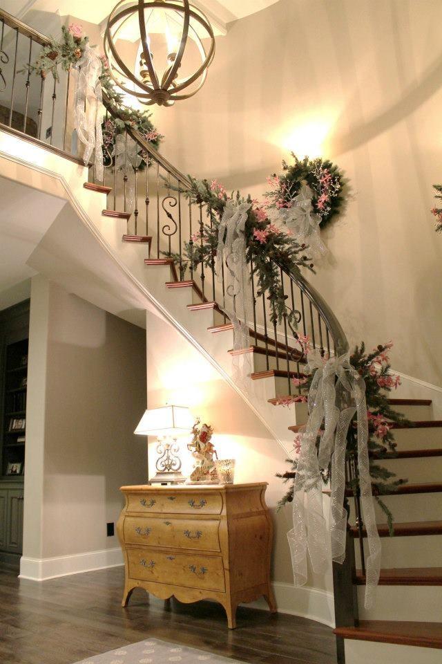 Christmas Garland On A Beautiful Staircase Yelp