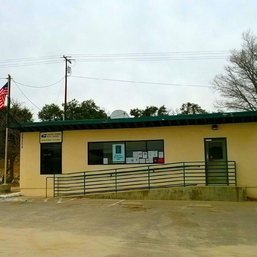 US Post Office: 39550 Old Highway 80, Boulevard, CA
