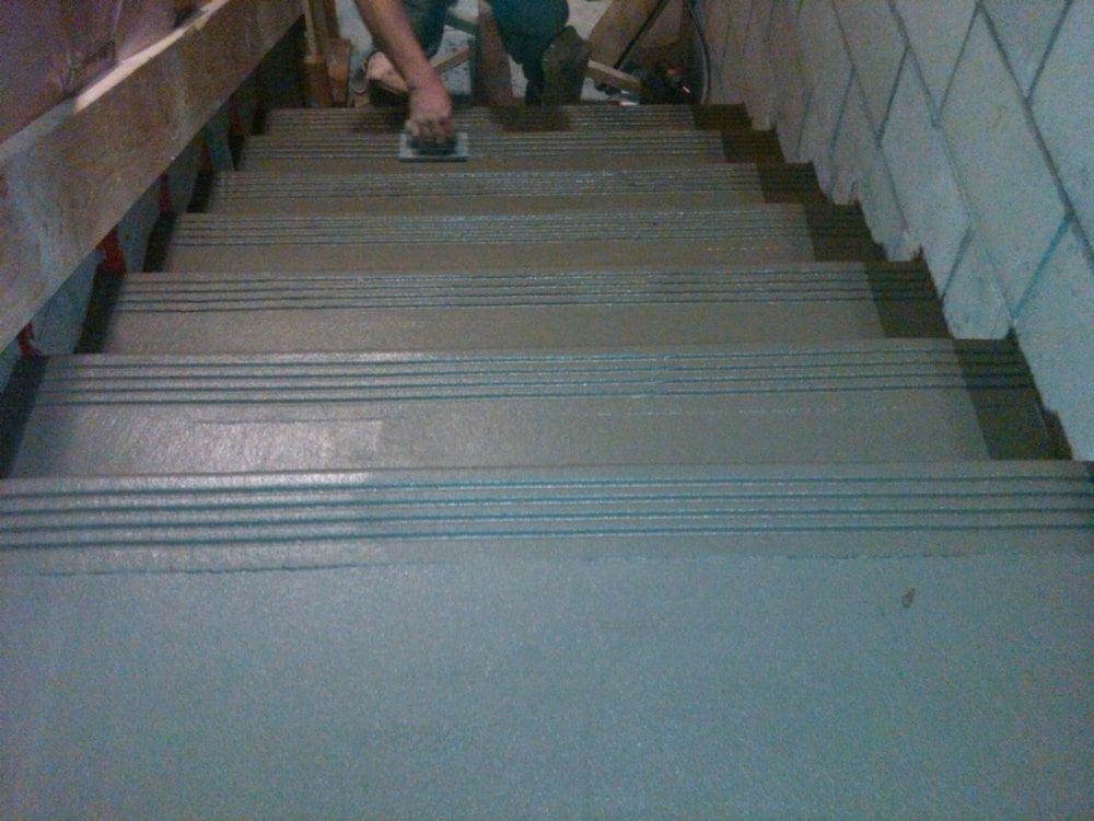 Concrete stairs concrete stair repair concrete resurfacing - Resurfacing exterior concrete stairs ...