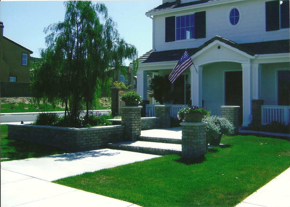 Front Yard Hardscape. Landscape And Lighting - Yelp