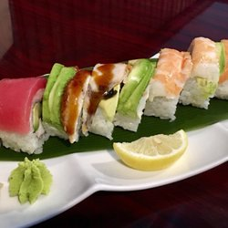Photo Of Mr Sushi Asheville Nc United States The Rainbow Roll Is