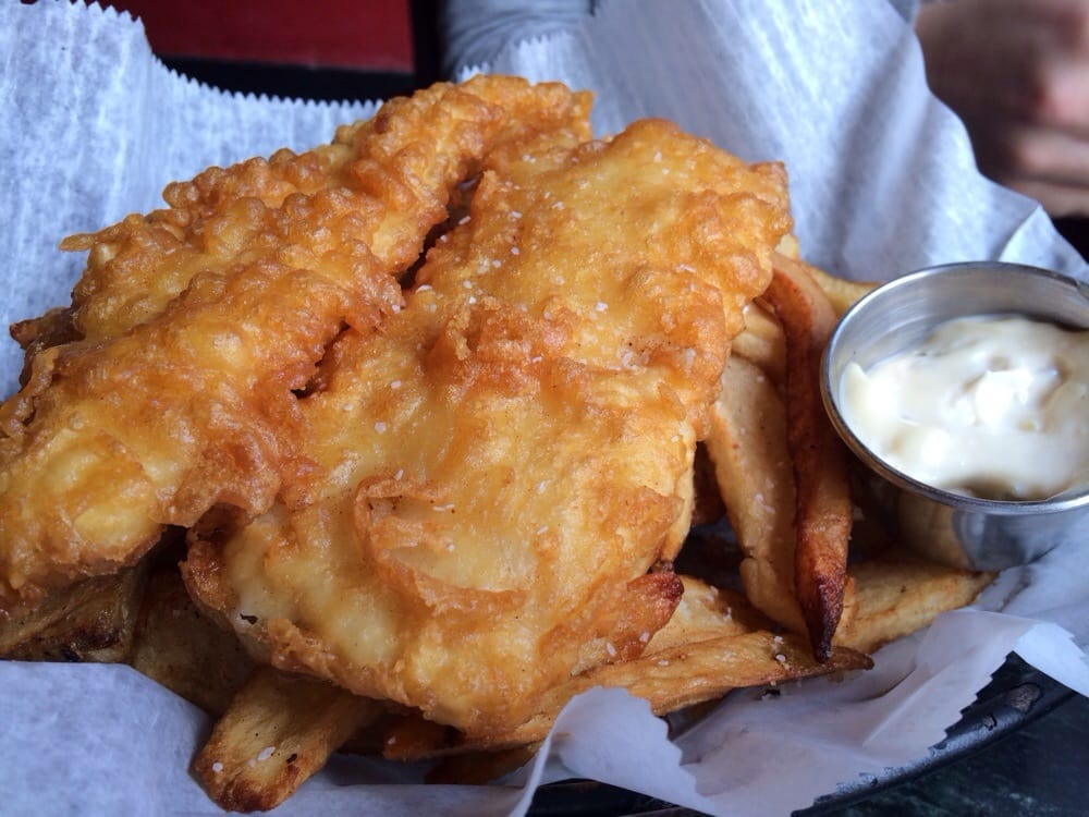 Fish and chips alaskan cod over hand cut fries chips yelp for Anchor fish and chips