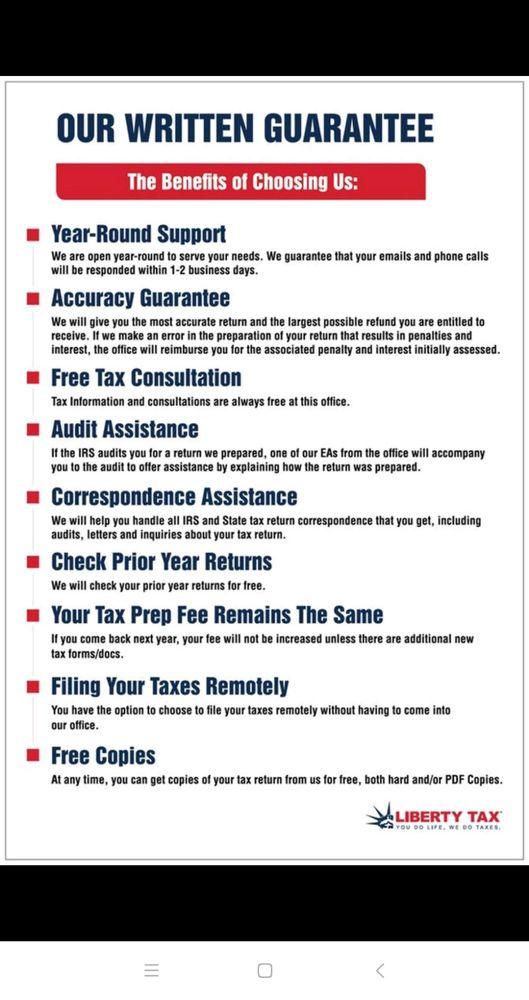 Liberty Tax Service - 16 Photos & 107 Reviews - Accountants
