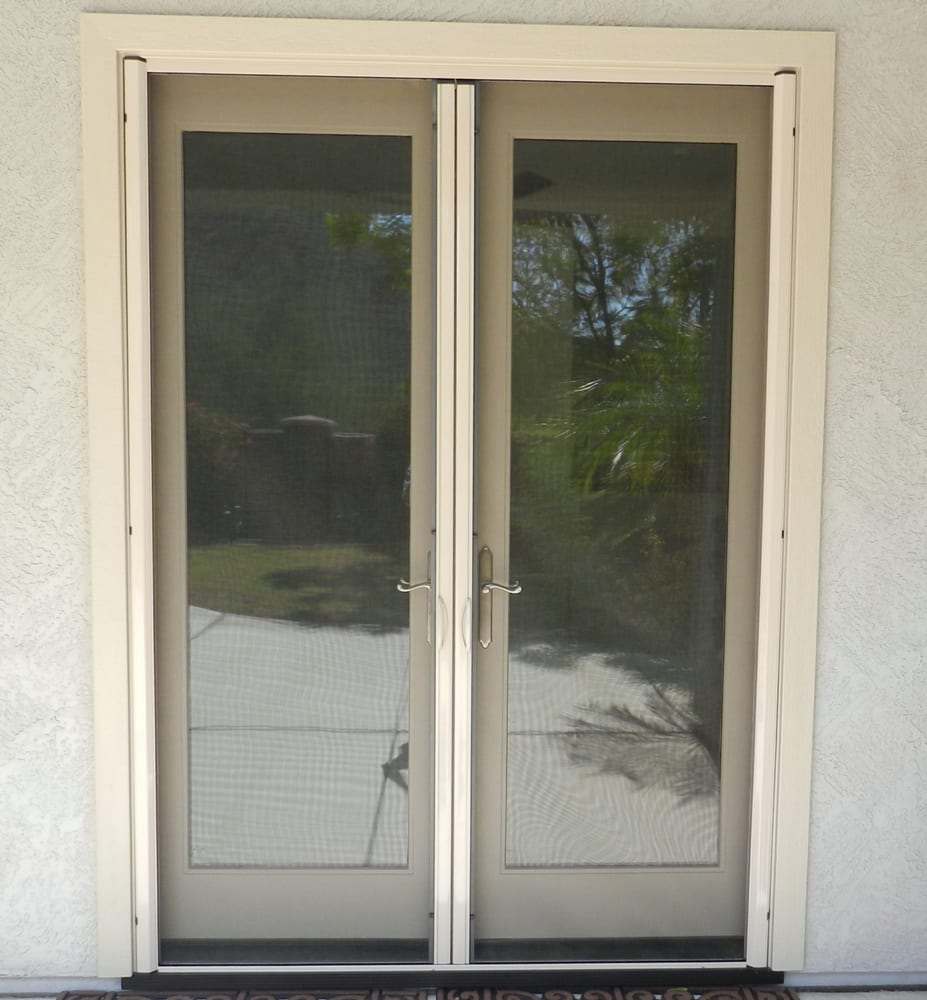 Thermatru french doors with retractable screens closed yelp for Retractable windows and doors