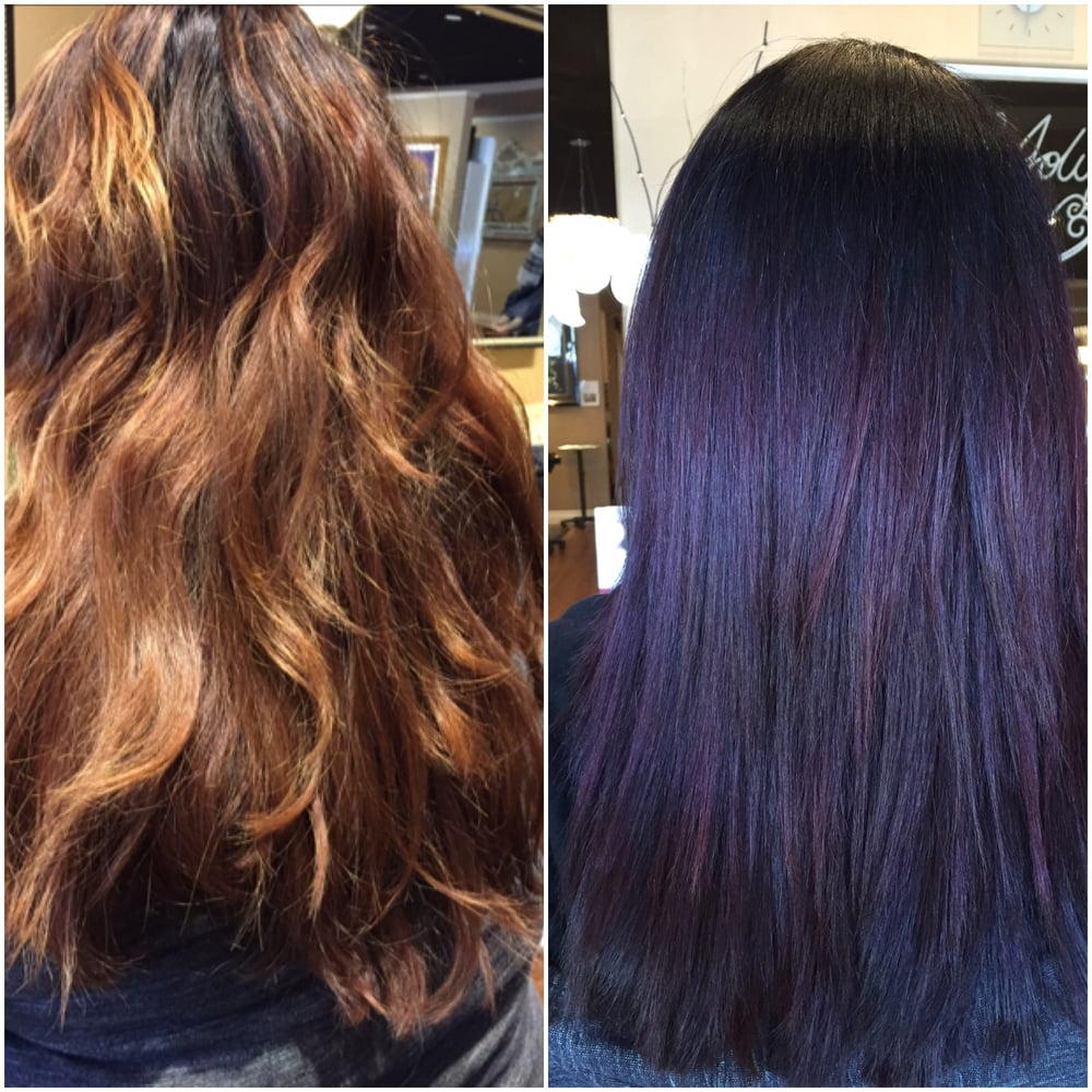 Before after color and cut by paige yelp for Image joli salon