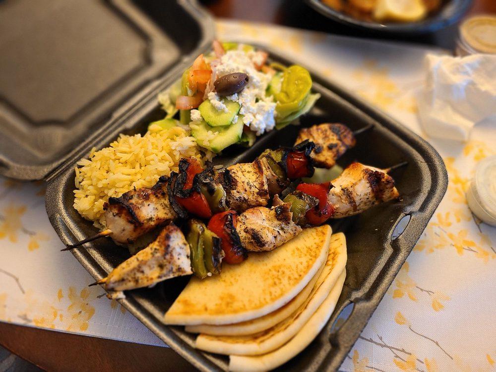 Food from Greek Street Grill