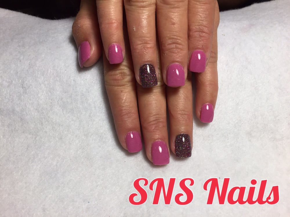 SNS nails ( dipping organic powders ) by Maria ! . Full set color ...