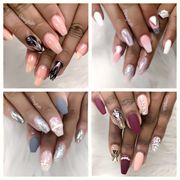 And White Ombré Photo Of Davi Nails Hyattsville Md United States