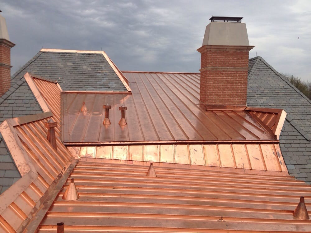 Copper And Slate Roof In The Willow Bend Area In West