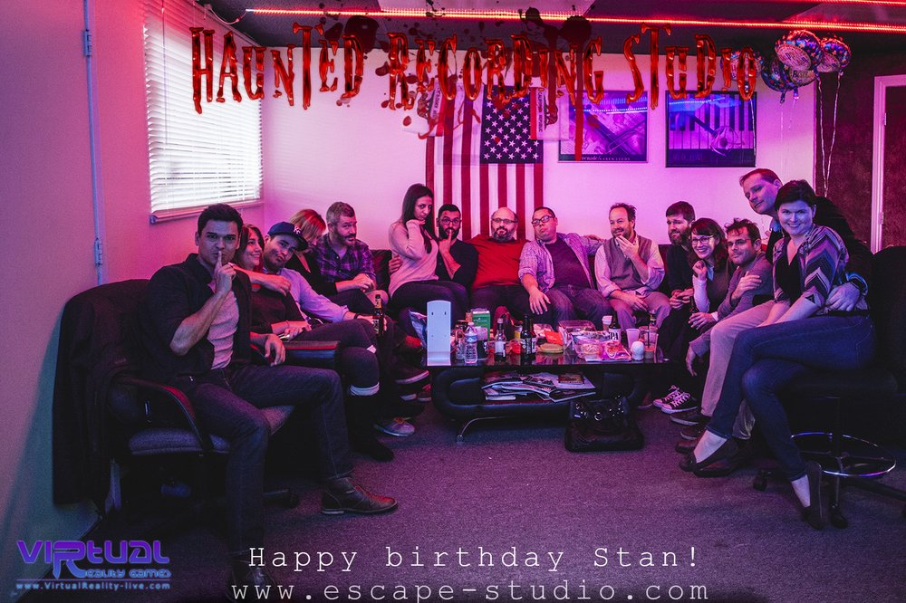 Live Escape Room Game Haunted Recording Studio Fun Things To Do For Birthday Surprise Party