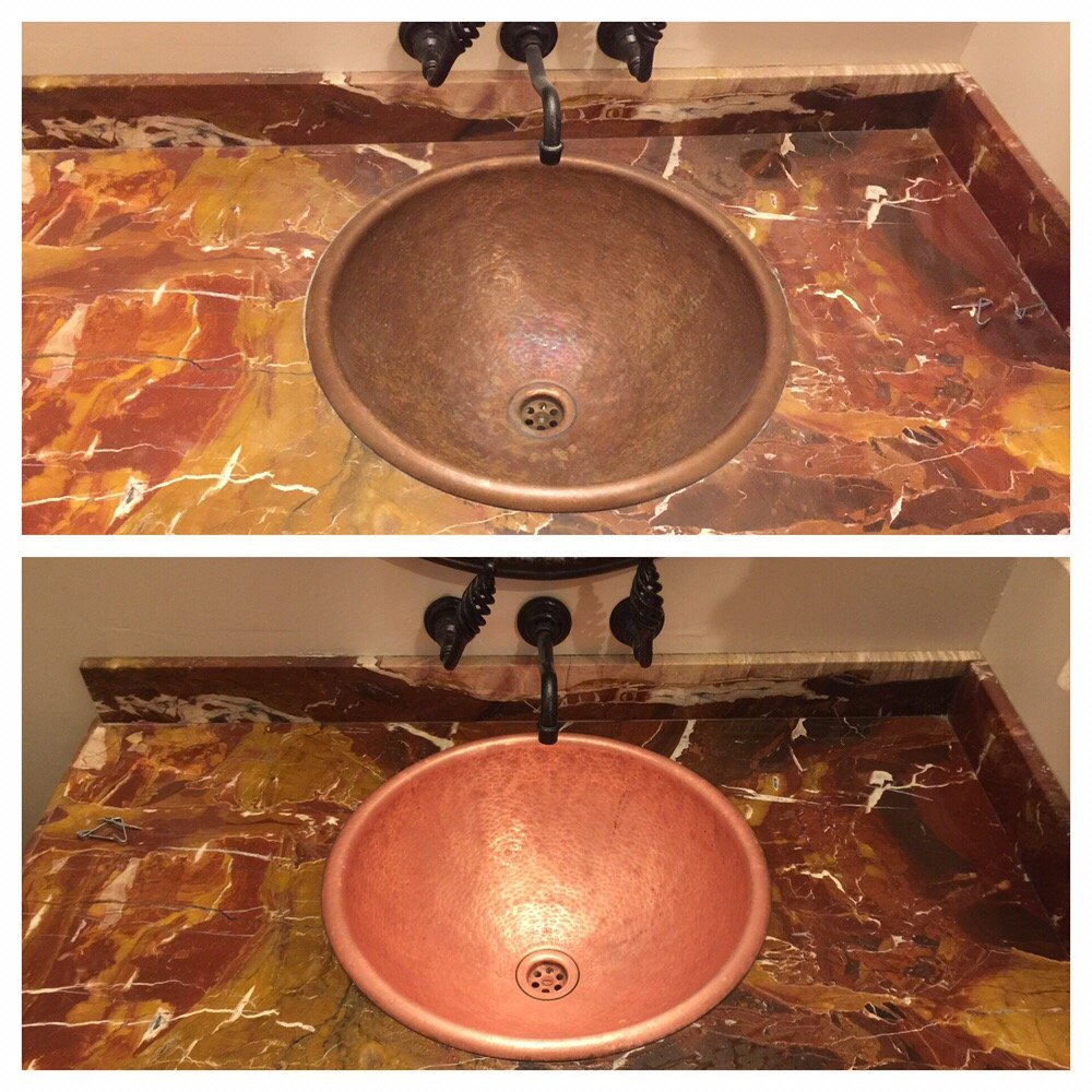 Photo Of Rubio S Cleaning Service Roseville Ca United States Clean Copper Sinks