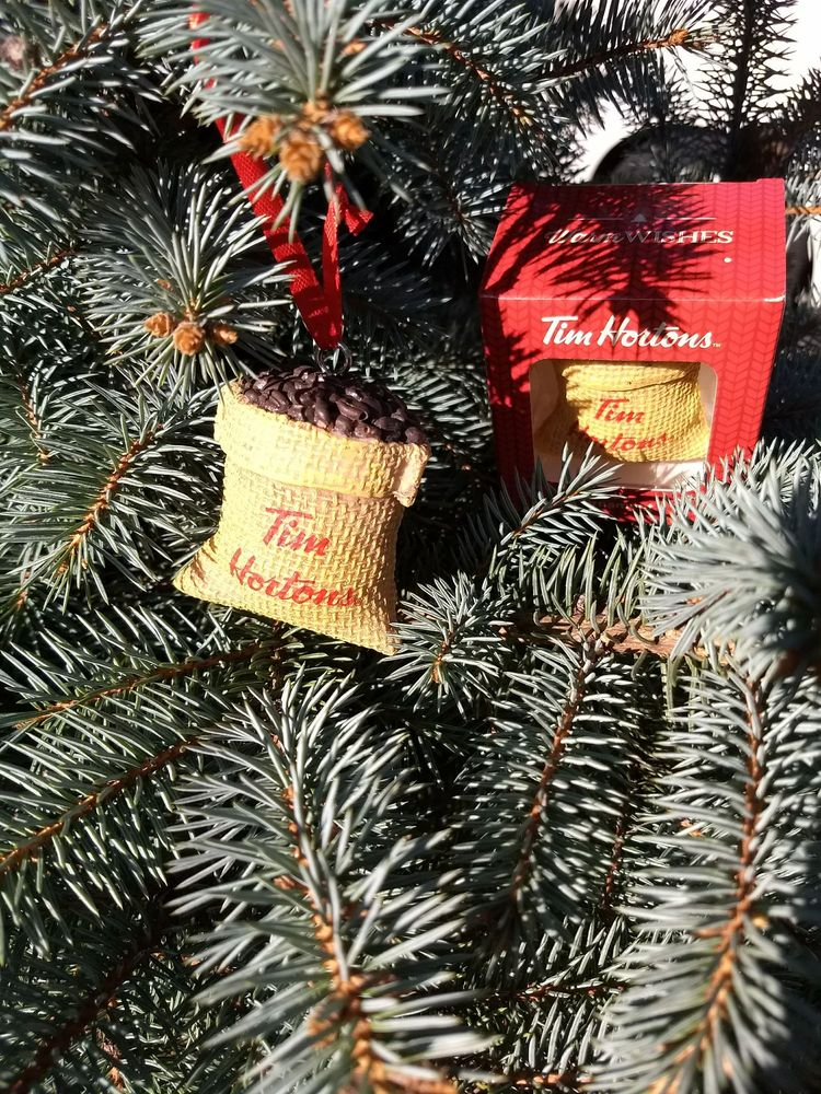 Coffee Christmas Ornaments.They Have Christmas Ornaments Here This Is A Burlap Bag Of