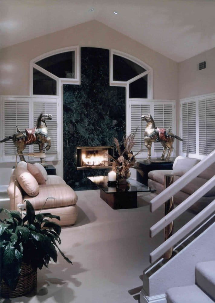 Contemporary Living Room With Ming Dynasty Horses Yelp