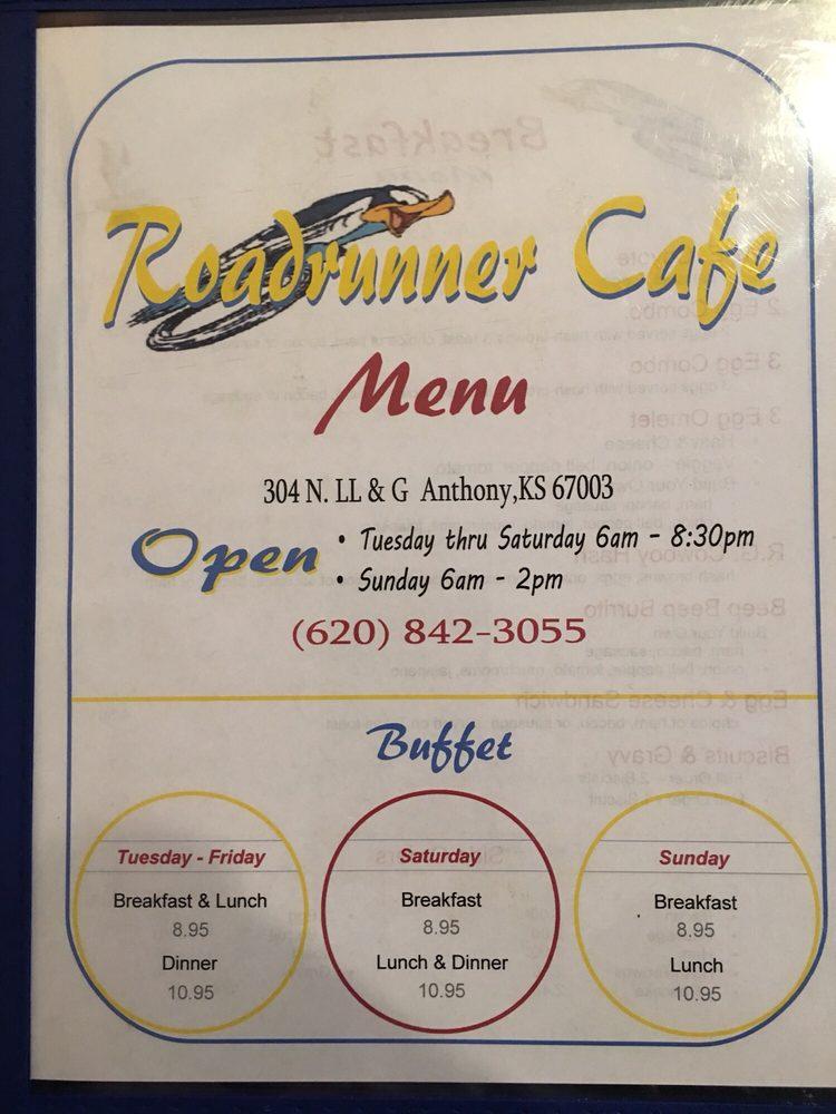 Roadrunner Buffet: 304 N LL&G, Anthony, KS