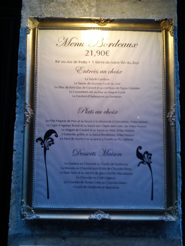 Carte Restaurant Bordeaux.La Carte Du Melodie Yelp
