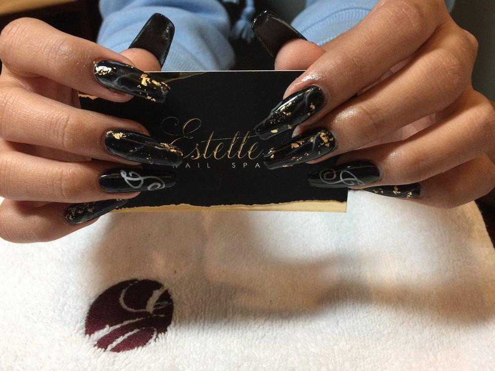 Black Marble acrylic nails - Yelp