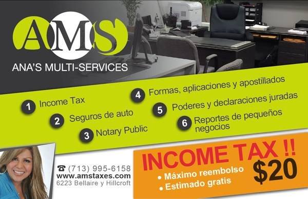 Ana's Multi-Service: 6223 Bellaire Blvd, Houston, TX