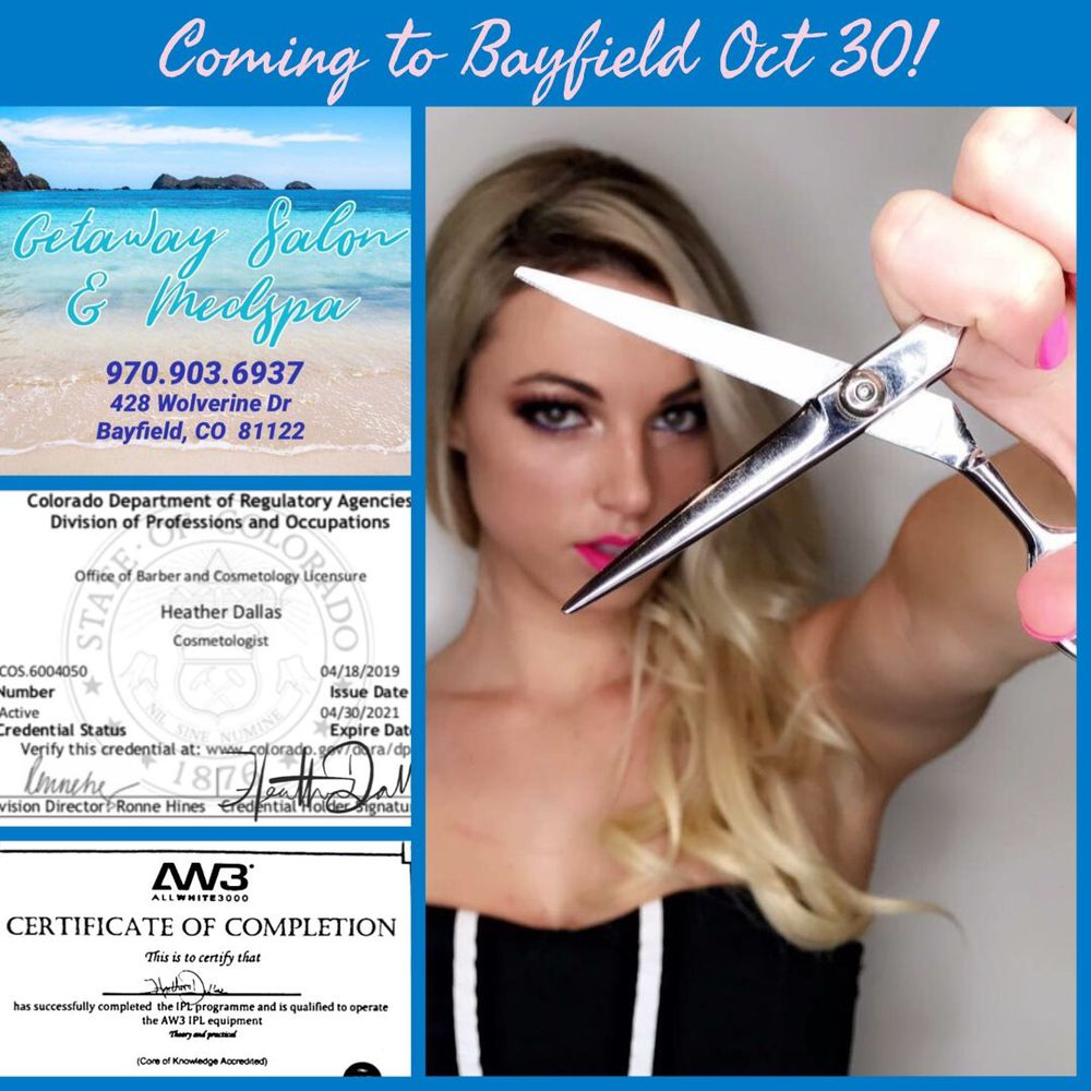 Getaway Salon & MedSpa: 428 Wolverine Dr, Bayfield, CO