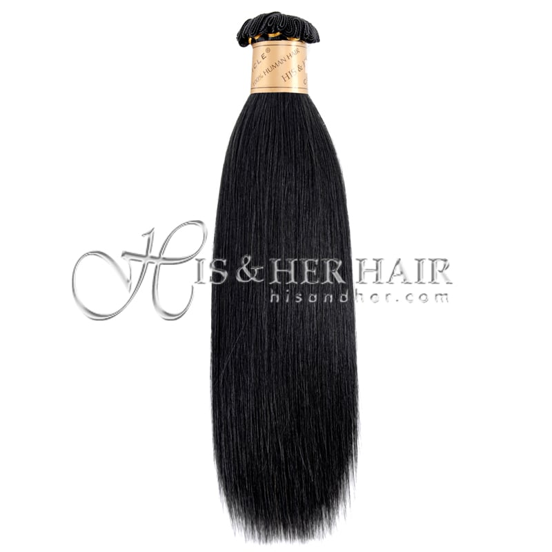 CUTICLE Handtied Wefted Natural Perm Straight for Weaving ...