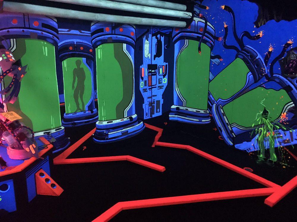 Partees 3D Blacklight Mini Golf: 234 Battlefield Blvd N, Chesapeake, VA