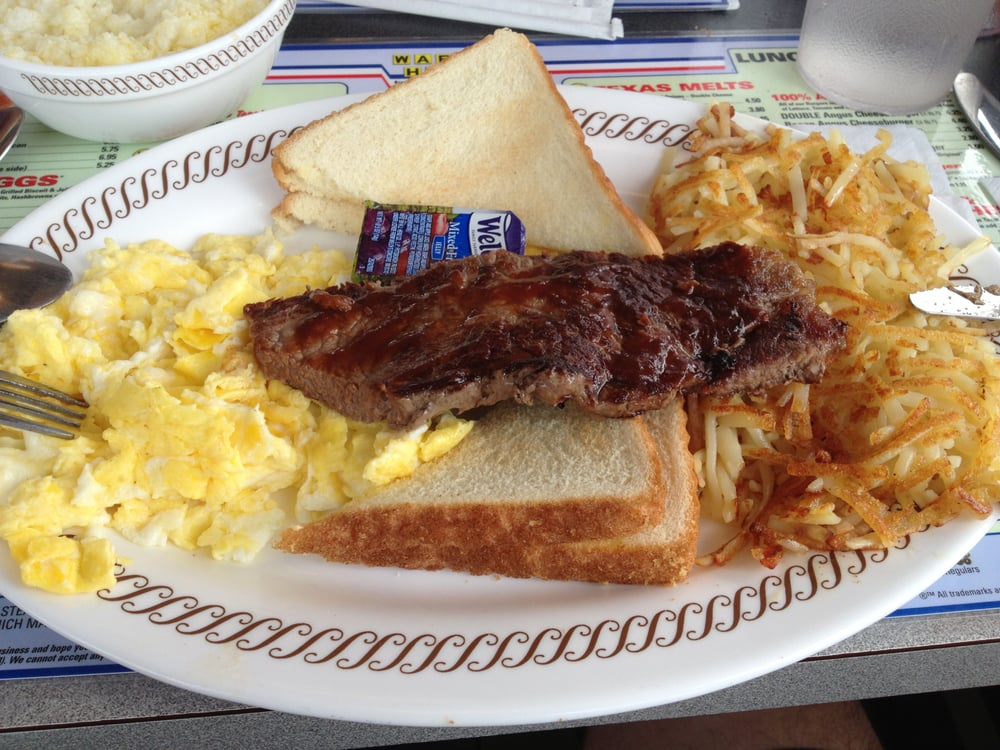 ... - Winchester, VA, United States. Steak, Eggs, Hash Browns and Toast