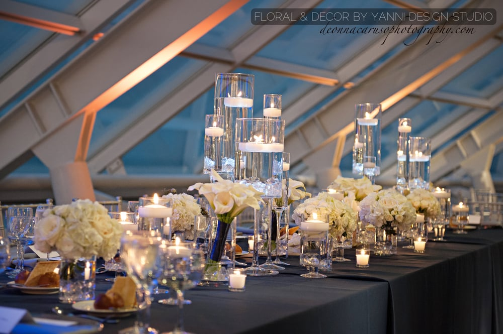 Wedding Reception Table Decorations Include Different Types Of White