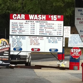 Hospitality Car Wash Prices