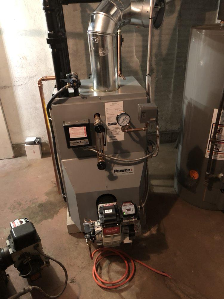 New Steam Boiler install double header oil fired - Yelp