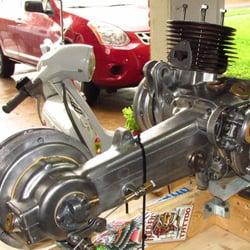 Anthony scooter work motorcycle repair 1515 caravan for Motor rebuilders dallas tx