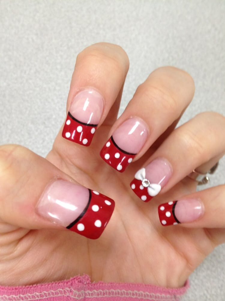 Minnie Mouse Nails By Bebe Yelp