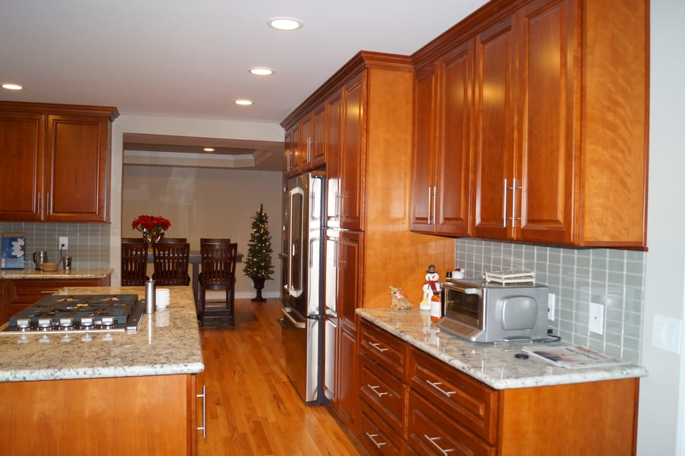 Kitchen Remodel Natural Cherry Cabinets Natural Red Oak