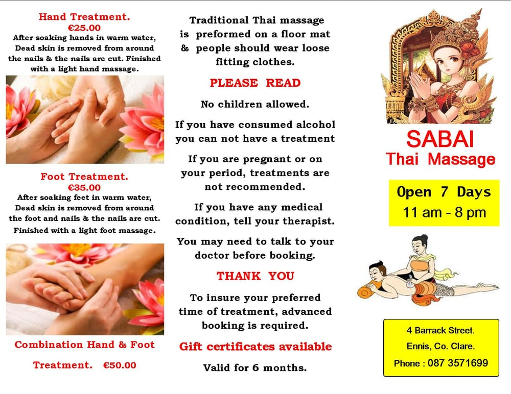 fre por sabai thai massage