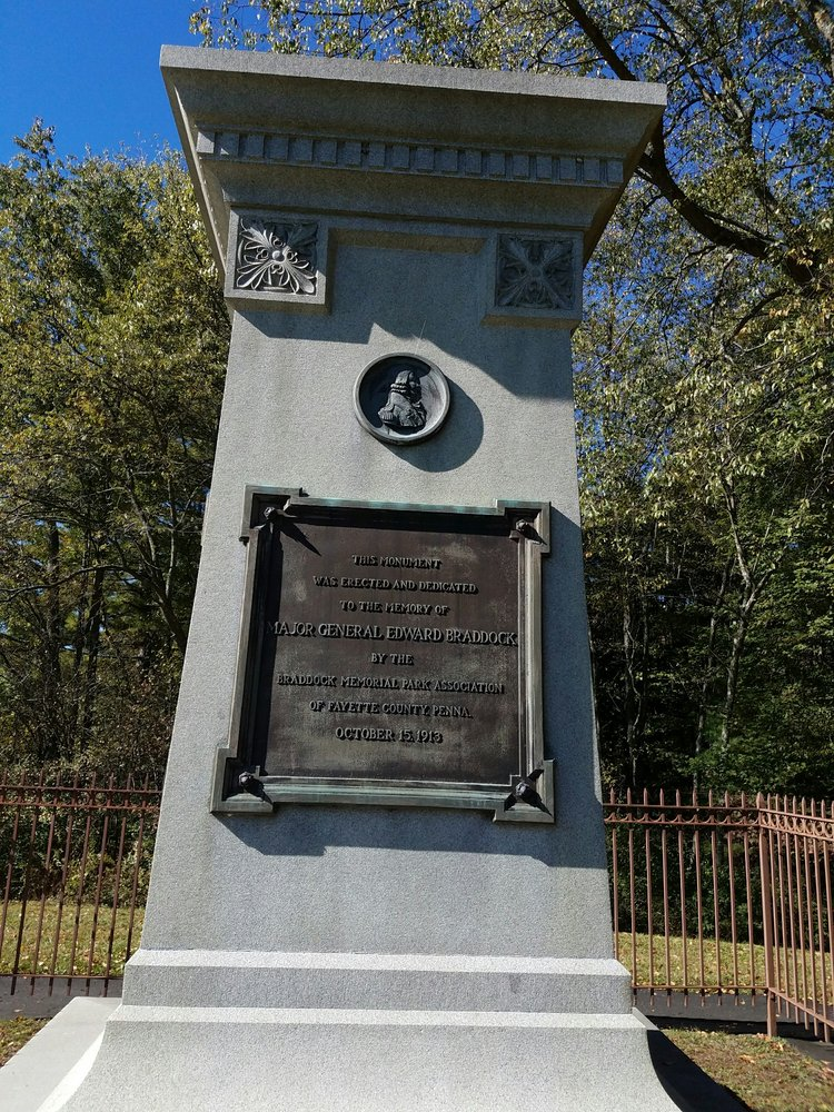 Braddock's Grave: National Pike Rt 40, Farmington, PA