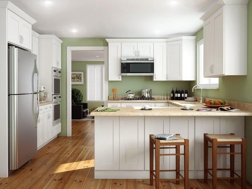 White Shaker Kitchen Cabinets - Yelp
