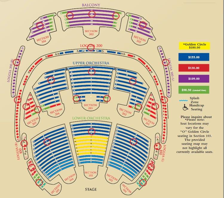 Seating chart yelp