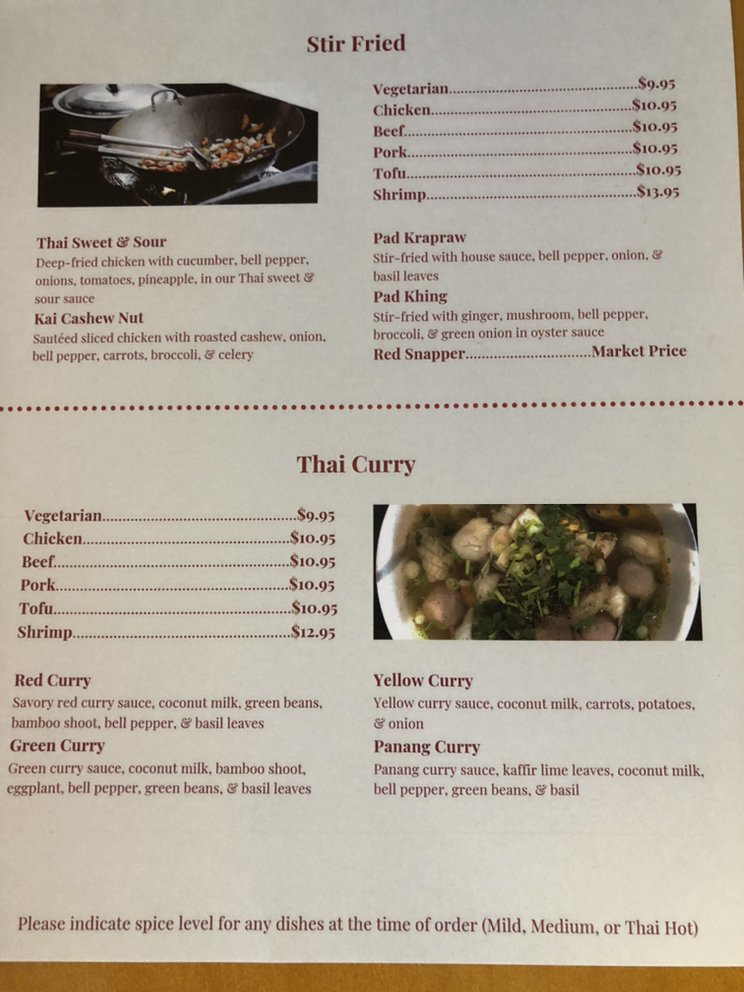Thai & Laos Cuisine: 203 Opelika Rd, Auburn, AL